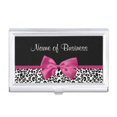 22 best business card cases images on pinterest business card case vivacious pink ribbon modern fashion leopard print business card holder colourmoves