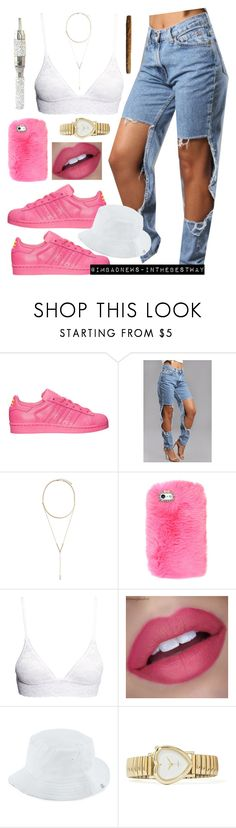 """Pharrell x Adidas"" by muva-franco ❤ liked on Polyvore featuring beauty, adidas, BCBGeneration, H&M and Herschel Supply Co."