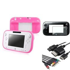 INSTEN 2x Pink Gamepad Silicone Case 4in1 AV Component Cable 2x LCD For Nintendo Wii U Review Buy Now