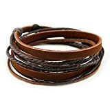 #fashion #men #mensfashion Latest Look: #3: Unisex Genuine Leather Cuff Wrap Bracelet Black Brown Rope Wristband Limited Availability!