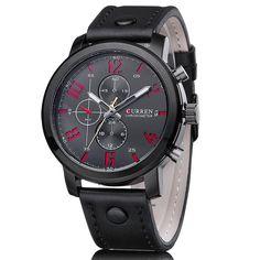 CURREN Luxury Casual Men Watches Analog Military Sports Watch Quartz Male Wristwatches
