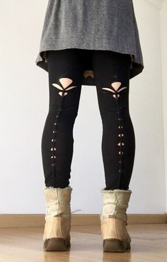 PIXIE FLOWER - cute braided tights in black - perfect for the festival  pixie, faery 229d14e775