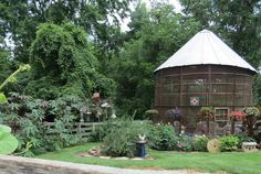 Grain bin turned gazebo . Diana says this project was complex and took the efforts of the entire family several months, but oh so worth it.