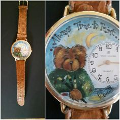 "Decorative ( tole) Painting Pattern Packet ""Painting Bear Watch""  This makes a great gift and works up quickly. by PamGonnasonDesigns on Etsy"