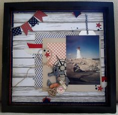 May Arts Nautical Craft Challenge Entries: Shadow Box by Jasmine Ford