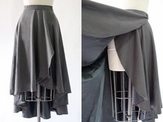 How to add a simple stay to your wrap skirt to prevent windy peekaboo