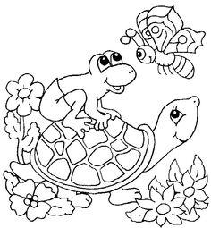 free printable pictures of frogs | Ausmalbilder. Malvorlagen für kinder zum drucken Tiere Schildkröten ...