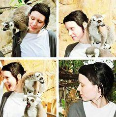Rooney Mara (and that a little monkey woaah cute)