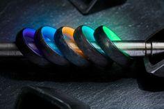 Titanium Rings For Men, Mens Silver Rings, Men's Jewelry Rings, Resin Jewelry, Jewellery, Sterling Silver Cross, Carbon Fiber, Jewelry Design, Men's Earrings
