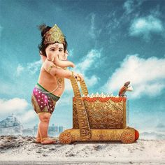 one of the major festivals celebrated in India with great enthusiasm and devotion. The festival marks the birthday… Ganesh Lord, Shri Ganesh, Ganesha Art, Jai Hanuman, Lord Shiva Pics, Lord Shiva Family, Baby Ganesha, Baby Krishna, Krishna Radha