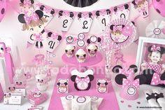 adornos y arreglos para baby shower de minnie mouse