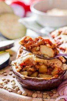 vegane Moussaka mit Linsen/ vegan moussaka with lentils