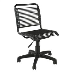 Euro Style Bungie Low Back Office Chair in Black and Graphite Black