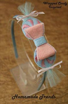 Wrapped Candy Felt Headband-Candy Headband-Candy land Accessory-Wrapped Candy 3D Bow-Felt Candy Bow-Candy Themed Birthday Accessory-Candy