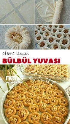 Yummy Nightingale Nest Dessert – Leckere Rezepte - My CMS Yummy Recipes, Delicious Desserts, Cake Recipes, Dessert Recipes, Yummy Food, Cake Recipe Using Buttermilk, Turkish Baklava, Arabic Sweets, Puff Pastry Recipes