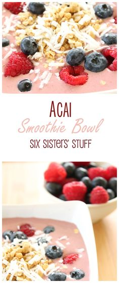 Acai Smoothie Bowls are both healthy and delicious!