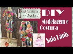 DIY - Modelagem e Costura Saia Lápis - Curso de Corte e Costura - Passo a Passo - YouTube