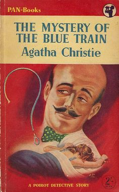 Vintage cover - The Mystery of The Blue Train