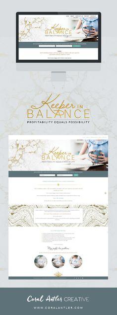 Keeper in Balance Website Design || Coral Antler Creative