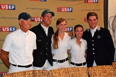 The clean round riders from round 2 of the USEF Olympic Selection Trials: Rich Fellers, Charlie Jayne, Saer Coulter, Reed Kessler, & Quentin Judge #ftiwef