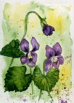 Pen Ink Watercolor Card Frugal crafter
