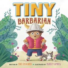 """Meet Tiny Barbarian! Tiny may be tiny, but he's MIGHTY! (His imagination is, too!) When Tiny and his family walk by a retro movie theater poster, Tiny realizes he wants to be: """"A BARBARIAN!"""" With his Battle Kitty by his side, Tiny Barbarian defends his realm, protects his family, and defeats """"A DRAGON!"""" """"A TROLL!"""" And even, """"GIANT BROCCOLI!"""" But at bedtime, our brave Tiny Barbarian meets his most challenging foe of all: """"THE DARK!"""" Got Books, Book Club Books, The Most Magnificent Thing, National Book Store, Kids Activity Books, Kindergarten Books, Barbarian, Movie Characters, Fictional Characters"""