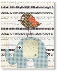 Illustration pour chambre d'enfant fille et garcon decoration Papier Blanc