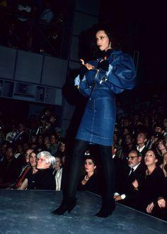 Iman for ALAÏA's NY fashion show. Mid 80's.