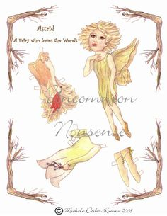 Astrid, a Forest Fairy Paper Doll on Etsy, $5.00