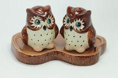 Owl SALT & PEPPER SHAKERS Ceramic Collectibles Kitchenware&Home Figurals Animals