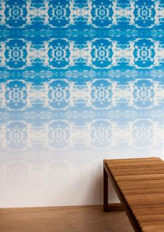 Cloud Rococo Ombre Wallpaper - Lime Lace £120 #wallpaper #panel #ombre #featurewall