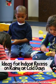 Ideas for Indoor Recess on Rainy or Cold Days – Wise Guys - Colorful Dreams Kindergarten Nursery Modern Classroom, Classroom Games, Classroom Management, Classroom Ideas, Behavior Management, Classroom Organization, Classroom Design, Rainy Day Activities, Teaching Activities