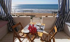 This simple, whitewashed, two-bedroom apartment near Donnalucata, in south-east Sicily, doesn't come with many frills – the real luxury is the location. Wooden steps trip from the terrace straight on to sandy Stina Santa beach
