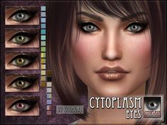 Cytoplasm Eyes for The Sims 4  Found in TSR Category 'Sims 4 Female Costume Makeup'