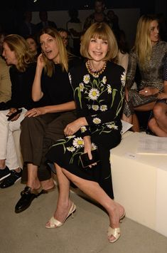 Anna Wintour Photos - Guests Arrive at the Kanye West Fashion Show in New York - Zimbio