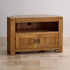 Windsor Brushed Solid Oak Corner Tv Cabinet