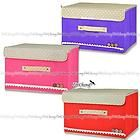 [Large] Bright Color Organizing Storage Box with Lid for Clothes Toys Accessory