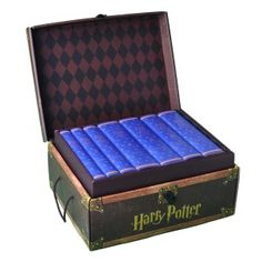 Complete Set of Harry Potter Books in Custom Ravenclaw Covers