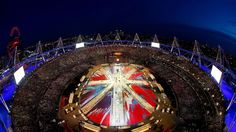 damien hirst designs flag for the london 2012 olympic closing ceremony