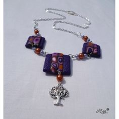 Náhrdelník Stromek /Fimo necklace
