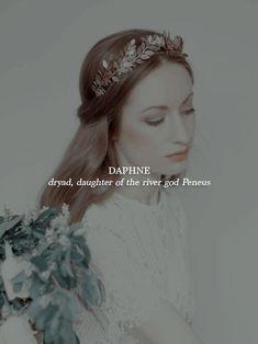 Daphne - girl's name Pretty Names, Cool Names, Badass Names, Greek Mythology Gods, Gods And Goddesses, Aesthetic Names, Goddess Names, Fantasy Names, Name Inspiration