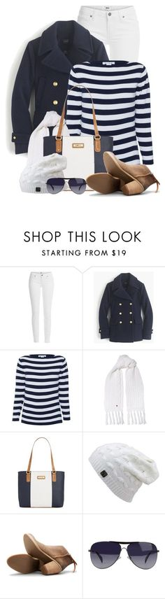 """""""Nautical Touch for Winter"""" by brendariley-1 ❤️ liked on Polyvore featuring Paige Denim, J.Crew, Woolrich, Marc Fisher, Dolce Vita, Giorgio Armani, women's clothing, women's fashion, women and female"""