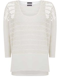 MINT VELVET [New Arrivals] Ivory Layered Lace Top