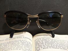 French 18K gold plated eye glasses. Vintage Retro by CabArtVintage