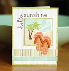 Nativity Silhouettes and On the Farm makes a cool beach card! (from to the full: hello, sunshine)
