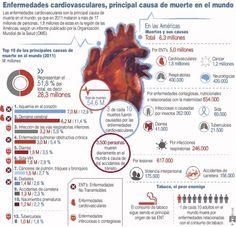 Enfermedades cardiovasculares primera causa de muerte en el mundo