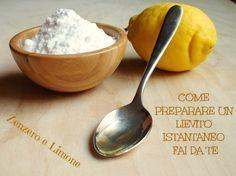 Lo sapevate che è possibile preparare un lievito istantaneo casalingo per dolci utilizzando del bicarbonato combinato ad una sostanza acida?