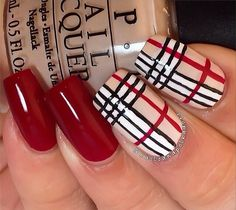"""12 Luxury Fashion Designer-Inspired Nail Art Looks to DIY: While we don't condone knockoff bags (major fashion faux pas — we can tell that's a """"Frada,"""" friend), paying homage to your favorite designer via nail art is pretty chic."""