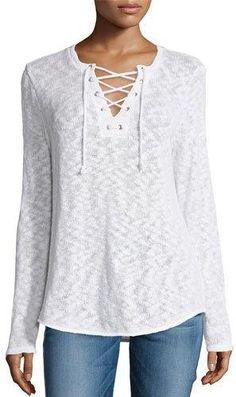 Generation Love Lola Burnout Slub Lace-Up T-Shirt