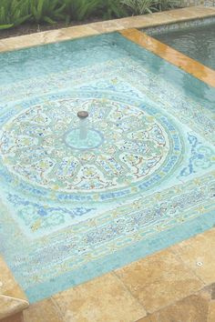 Bold and beautiful artisan ceramic tiles for pools or outdoor fountains. All of our tiles are lovingly hand painted and are perfect if you're looking for a unique element to your home decor. We have all your hand painted tile patterns and decor inspiration! #tiles #homedecor